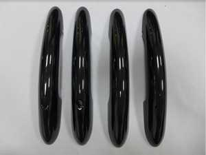 ES#4265290 - 512174345352 - Door Handle Piano Black Cover - Set Of Four With Key/Lights  - Add on some black line gloss trim to your factory door handles - ECS - MINI
