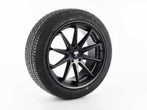 "ES#4305491 - C102095112MB35SD - RC10 20x9 5x112 35ET Matte Black WITH Yokohama ADVAN Sport A/S+ - 255/45R20 - Priced Each *Scratch And Dent* - *Please see photos and description prior to ordering*  20""x9"", ET35, CB66.6, 5x112 - Matte Black - Rohana Wheels - Audi"