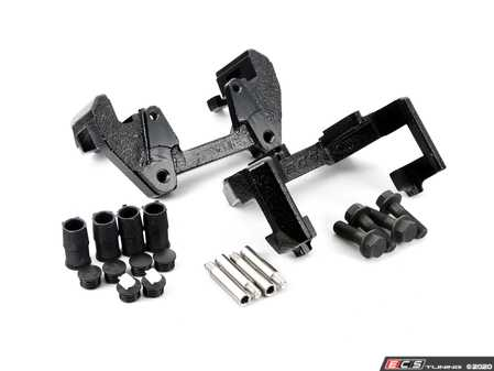 ES#4272292 - 34112282619KT1 - Front CSL/ZCP Bracket set with hardware  - Brackets to allow use of 345mm rotors, includes new guides, bushings and hardware - Assembled By ECS - BMW