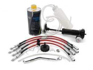 ES#4141510 - e46exkitupKT - Brake Line Replacement/ Upgrade Kit  - Front and rear ECS Exact-Fit brake lines with fluid and tools for a complete DIY - Assembled By ECS - BMW