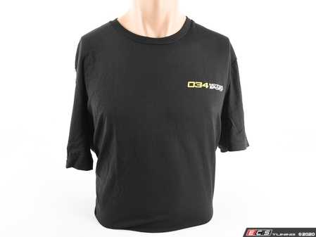 ES#3691993 - 034-A01-1003-XL - '034Motorsport' Logo Shirt - Black - Mens XL - Having trouble with the ladies? 034Motorsport thought so, and they can help! - 034Motorsport - Audi BMW Volkswagen
