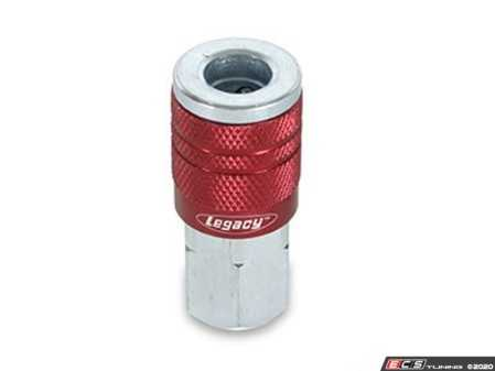 """ES#2944071 - LEGA73410D - Type D 1/4"""" Coupler Female (Red) - Couplers and plugs are a necessity when using air tools - Legacy Mfg. Co. - Audi BMW Volkswagen Mercedes Benz MINI Porsche"""
