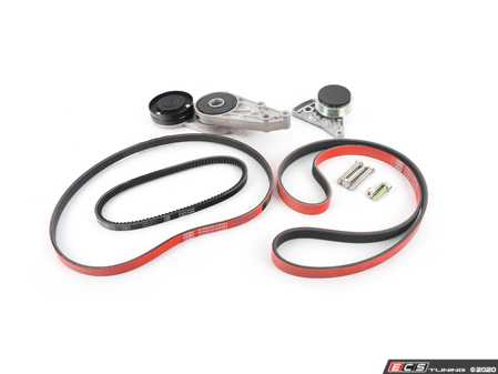 ES#4305029 - 058903133DMTCKT2 -  Accessory Belt Kit With Tensioners & ECS Performance Kevlar Reinforced Accessory Belts - Keep your accessories running properly with new tensioners and drive belts - Assembled By ECS - Audi