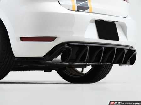 ES#4049681 - 028759ECS01-01KT -  MK6 GTI Gloss Black Rear Diffuser  - Add aggressive styling with our In-House Engineered Gloss Black Rear Diffuser! - ECS - Volkswagen