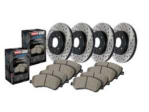 ES#4296466 - 988.34053 - Street Performance Axle Pack Service Kit - Drilled And Slotted - Front & Rear - Featuring Stoptech Drilled & Slotted rotors and Stoptech Street pads - StopTech - MINI