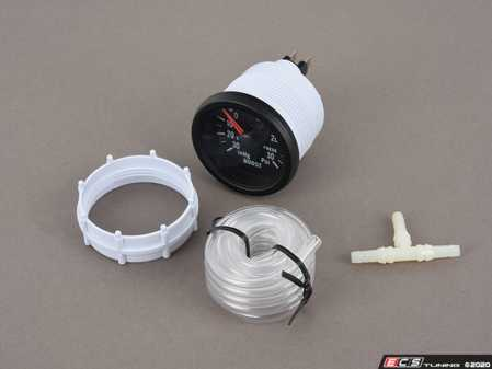 ES#3176536 - PSTBO270-12 - 52mm Prosport Mechanical Boost Gauge - Clear Lens/White LED - Includes twist on mounting ring, twist on LED bulb, tubing kit, T-adapter, and instructions. - Prosport Performance - Audi BMW Volkswagen Mercedes Benz MINI Porsche