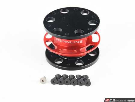 ES#2840090 - I18RED - Steering Wheel Quick Disconnect - Red - Rennline style and design to give you the highest quality quick release hub on the market - Rennline - Audi BMW Volkswagen Mercedes Benz MINI Porsche