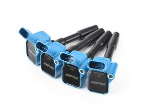 ES#4164383 - MS100204-4KT - APR Upgraded Ignition Coils - Blue - Set Of Four - Designed to be a direct plug-and-play upgrade to factory coils, providing greater energy output, ensuring a stronger and more consistent spark! - APR - Audi Volkswagen