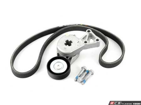 ES#4305017 - 06A260849CONKT2 - Accessory Belt Kit With ECS Performance Kevlar Reinforced Accessory Belt - Keep your accessories running properly with a new tensioner and ECS performance Kevlar reinforced accessory belt service kit! - Assembled By ECS - Audi Volkswagen