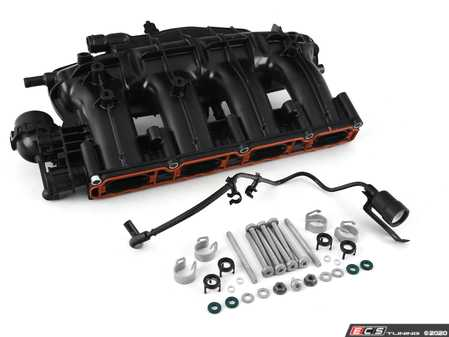 ES#4045170 - 06J133201KT -  TSI Intake Manifold - With Complete Installation Kit - Includes updated design intake manifold (06J133201BH) along with all the necessary installation components for a proper replacement - Assembled By ECS - Audi Volkswagen