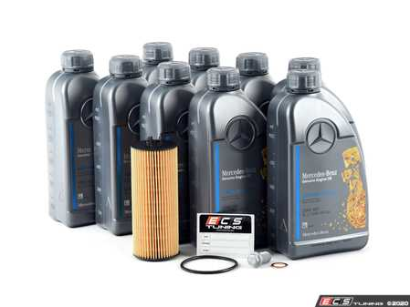 ES#2816722 - 2781800009KT2 - Engine Oil Service Kit - With 5W-40 Engine Oil - Everything you need to perform an engine oil service, featuring Mercedes-Benz 5W-40 Full-Synthetic Engine Oil - Genuine Mercedes Benz - Mercedes Benz