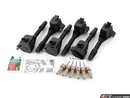 ES#3651495 - 12138643360BKT - Ignition Service Kit - Includes new spark plugs and coils - Assembled By ECS - BMW