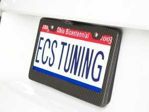ES#2083299 - 6373 - Carbon Fiber License Plate Frame - Carbon Fiber plate frame for a unique style and just the right amount of carbon. - ECS - Audi BMW Volkswagen Mercedes Benz MINI Porsche