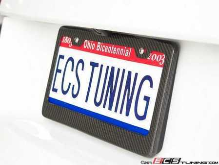ES#2083299 - 6373 - Carbon Fiber License Plate Frame - Carbon Fiber plate frame for a unique style and just the right amount of carbon. - ECS - Audi BMW Volkswagen Mercedes Benz MINI Porsche