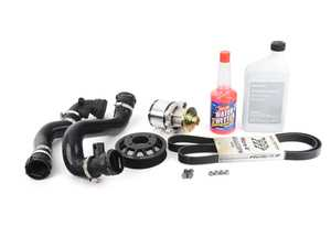 ES#4315904 - 888010330KT2 - High Performance water pump kit  - Featuring Stewart High Performance water pump, GatesRacing belt, heavy duty ECS water pump pulley, and silicon radiator hoses - Assembled By ECS - BMW