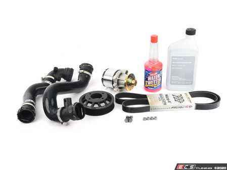 ES#4315904 - 888010330KT2 - High Performance water pump kit  - Featuring Stewart High Performance water pump, GatesRacing belt, heavy duty ECS water pump pulley, and silicone radiator hoses - Assembled By ECS - BMW