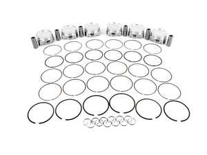 ES#4176985 - 361346 - Forged Piston Set - S50B30 - Includes rings, wire locks, and 22mm wrist pins - 86.25mm bore, 9:1 CR - JE Piston - BMW