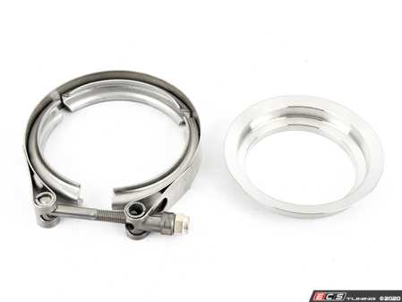 """ES#4335601 - CLC-CLA-055 - 3"""" Stainless Downpipe 4.21 Marmon Flange/Clamp Borg Warner  - ATP -"""