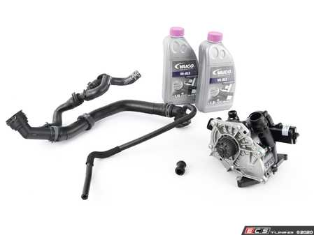 ES#3651379 - 06k121011ckt3 - Cooling System Refresh Kit - Level 1 - This entry level kit includes thermostat, waterpump, complete upper radiator hoses and coolant - Assembled By ECS - Volkswagen