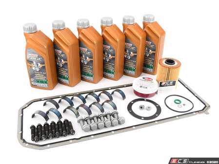 ES#3522145 - 11247835439KT4 -  BE Bearings Performance Rod Bearing Replacement Kit  - Includes everything needed for a rod bearing service, featuring BE Bearings upgraded rod bearings. - Assembled By ECS - BMW