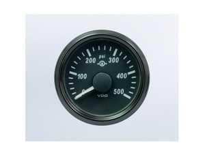 ES#4338666 - A2C3832740030 - SingleViu 52mm 500psi Gear Pressure Gauge. 0-4.5V sender required. - Priced Each  - Analog dial to display critical information in a classic design - VDO - Audi BMW Volkswagen Mercedes Benz MINI Porsche