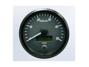 ES#4338670 - A2C3832790030 - SingleViu 100mm 5000RPM Tachometer - Priced Each  - Analog dial to display critical information in a classic design with digital time - VDO - Audi BMW Volkswagen Mercedes Benz MINI Porsche