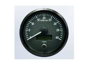 ES#4338671 - A2C3832800030 - SingleViu 100mm 4000RPM Tachometer - Priced Each  - Analog dial to display critical information in a classic design with digital time - VDO - Audi BMW Volkswagen Mercedes Benz MINI Porsche