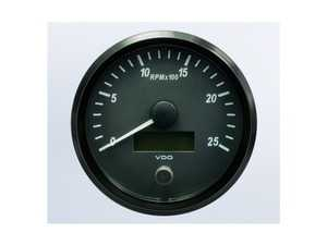ES#4338673 - A2C3832820030 - SingleViu 100mm 2500RPM Tachometer - Priced Each  - Analog dial to display critical information in a classic design with digital time - VDO - Audi BMW Volkswagen Mercedes Benz MINI Porsche
