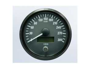 ES#4338674 - A2C3832830030 - SingleViu 100mm 300km/h Speedometer - Priced Each  - Analog dial to display critical information in a classic design with digital time - VDO - Audi BMW Volkswagen Mercedes Benz MINI Porsche