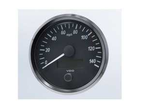 ES#4338676 - A2C3832850030 - SingleViu 100mm 140mph Speedometer - Priced Each  - Analog dial to display critical information in a classic design with digital time - VDO - Audi BMW Volkswagen Mercedes Benz MINI Porsche
