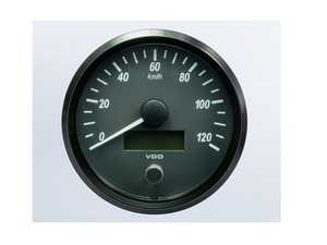 ES#4338677 - A2C3832860030 - SingleViu 100mm 120km/h Speedometer - Priced Each  - Analog dial to display critical information in a classic design with digital time - VDO - Audi BMW Volkswagen Mercedes Benz MINI Porsche