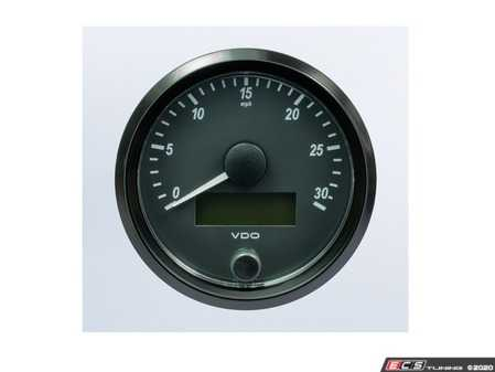 ES#4338679 - A2C3832880030 - SingleViu 80mm 30mph Speedometer - Priced Each  - Analog dial to display critical information in a classic design with digital time - VDO - Audi BMW Volkswagen Mercedes Benz MINI Porsche