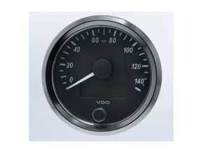 ES#4338683 - A2C3832920030 - SingleViu 80mm 140mph Speedometer - Priced Each  - Analog dial to display critical information in a classic design with digital tim - VDO - Audi BMW Volkswagen Mercedes Benz MINI Porsche
