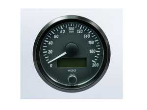 ES#4338685 - A2C3832940030 - SingleViu 80mm 200km/h Speedometer - Priced Each  - Analog dial to display critical information in a classic design with digital time - VDO - Audi BMW Volkswagen Mercedes Benz MINI Porsche