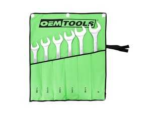 """ES#4339632 - OEM22113 - 6 Piece SAE Jumbo Angle Head Wrench Set (1-3/8"""" - 2"""") - Includes Rugged Nylon Pouch for Storage and Transport - OEM Tools - Audi BMW Volkswagen Mercedes Benz MINI Porsche"""