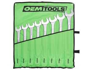 ES#4339642 - OEM22121 - 8 Piece Jumbo Combination Wrench Set (33 Mm - 50 Mm) - Includes Canvas Rollup Storage Bag to Protect the Wrenches During Transportation and Organized for Storage - OEM Tools - Audi BMW Volkswagen Mercedes Benz MINI Porsche