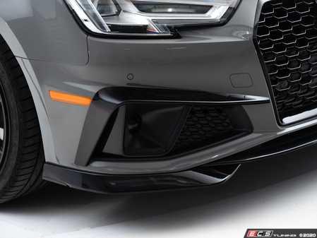 ES#4315215 - 007009LA01 - Audi Mid-Facelift B9 A4 S-Line / S4 Grille Accent Set - Gloss Black - Upgrade your exterior styling - ECS - Audi