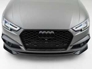 ES#4338535 - 007041la01KT1 - B9.5 Mid-Facelift S4/A4 S-Line Front Chin Spoilers - Gloss Black - Upgrade your exterior styling! - ECS - Audi