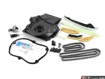 ES#4265774 - 06H198004KT10 - Ultimate Timing Chain Kit - Includes chains,tensioners, rails, gasket sealant and all necessary hardware - Assembled By ECS - Volkswagen