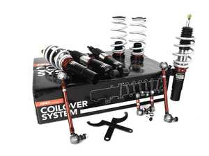 ES#4339922 - 003997LB01 - MK5 R32/MK6 Golf R, JSW, B6/CC - Adjustable Damping Coilover Set - Features 32 way adjustable damping, variable length, zinc-coated shock bodies and performance sway bar end links - ECS - Audi Volkswagen