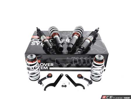 ES#4339916 - 003946LB01 -  MK4 Golf/GTI/Jetta Adjustable Damping Coilover System - Features 32 way adjustable damping, variable length, zinc-coated shock bodies and performance sway bar end links - ECS - Volkswagen