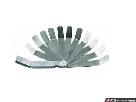 """ES#4348895 - 163D - 11 Blade SAE/Metric Valve-Tappet Feeler Gauge - Gauge measures valve tappet clearances from .008"""" to .026"""" and .203mm to .660mm - Gear Wrench - Audi BMW Volkswagen Mercedes Benz MINI Porsche"""