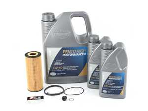 ES#250241 - C6A6BKH5-40 - Oil Service Kit - Includes OE oil filter, drain plug/washer, and 7 liters of Pentosin 5w-40 - Assembled By ECS - Audi
