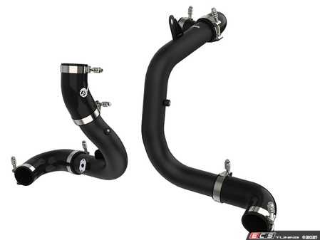 ES#4349462 - 46-20414-B - BladeRunner Aluminum Hot And Cold Charge Pipe Kit - Black  - 25% Increase in airflow over stock granting a Dyno-Proven gain of +15HP and +19Lb-Ft of Torque! - AFE - Audi Volkswagen