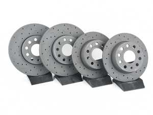 ES#3698603 - htc4570KT - Talon Front & Rear Cross Drilled & Slotted Brake Rotor Kit (288x25/253x10) - An all new cross drilled and slotted upgrade for your vehicle - Offering performance, durability, and quality in one package! - Hawk - Volkswagen