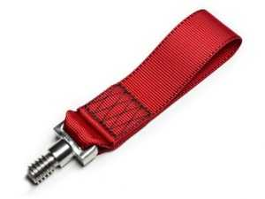 ES#4315203 - FLM-E9X-3TSTR - Fall-Line Motorsports E9X / E36 M3 Tow Strap - Red - Never sacrifice quality when it comes to your BMW, especially for the tow strap. - Fall Line - BMW