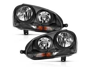 ES#4350572 - 121542 - Halogen Blackout Headlight Set - Plug and play blackout housings for a unique look and improved visibility. Select your favorite bulbs! - Anzo - Volkswagen