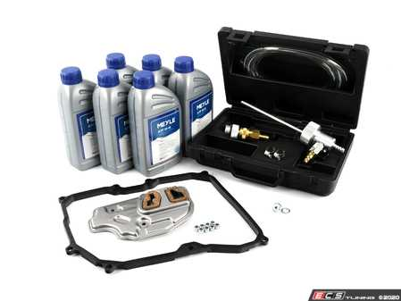 ES#2804536 - 09G398429AKT6 -  6-Speed automatic transmission service kit - With Service Tool - Includes Meyle trans fluid, filter, drain plug with new seal, a pan gasket and the Schwaben Service Tool for a complete service. - Assembled By ECS - Audi Volkswagen