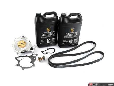 ES#3022394 - 99710601105KT1 - Water Pump & Thermostat Kit - Includes gaskets, coolant, and a new belt! - Assembled By ECS - Porsche