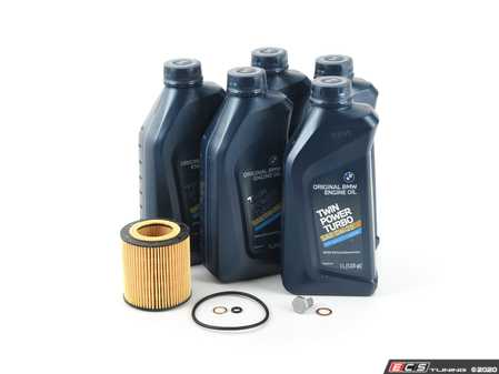 ES#4305304 - 11427953129KT - Oil Change Kit / Inspection I - Everything needed for an oil service including Genuine BMW Twin Power Turbo oil - Assembled By ECS - BMW